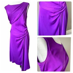 DVF stretch silk drape dress